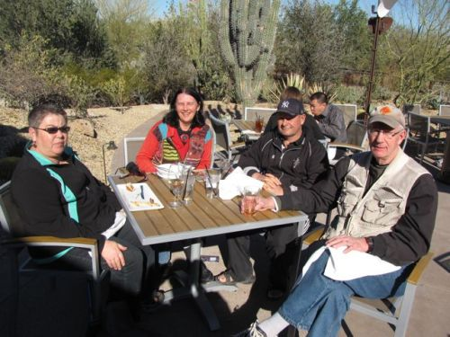 lunch in the phoenix botanical garden