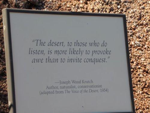 desert quote by joseph krutch