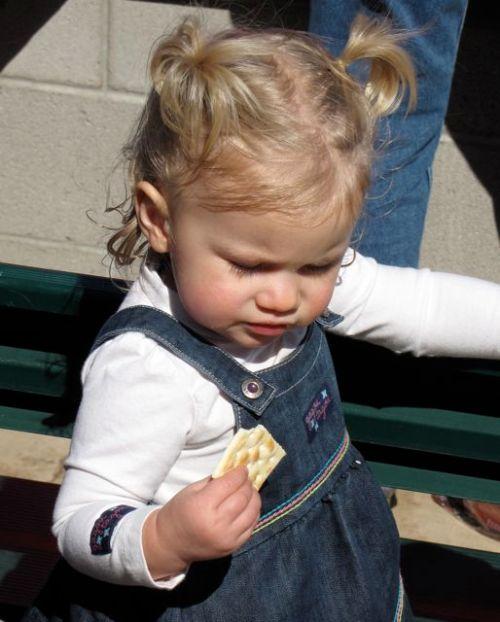 eating a cracker