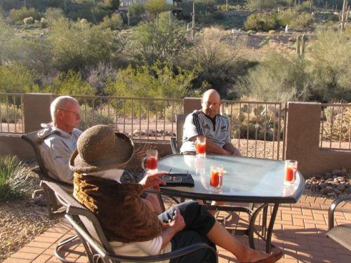 happy hour on our arizona patio