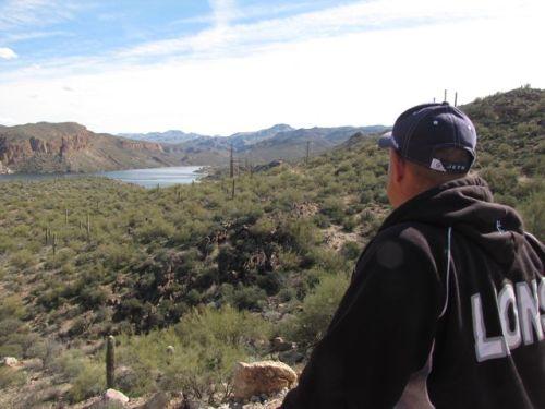 looking at canyon lake tonto national forest