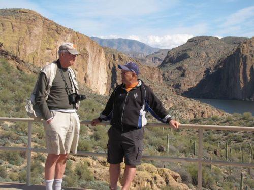 visiting at canyon lake