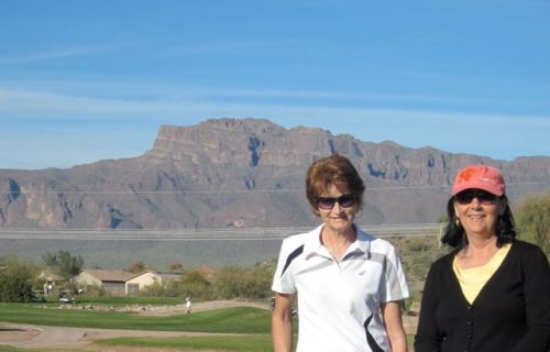 sue and I superstition mountains