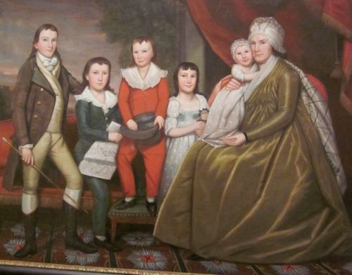 Chloe Burrall Smith and Her Five Children by Ralph Earl 1798