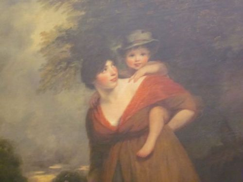 Mrs. Brindley Sheridan and Her Son- by John Hoppner 1797