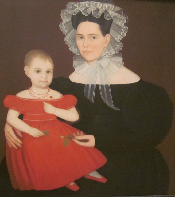 Mrs. Mayer and Daughter by Ammi Phillips 1835