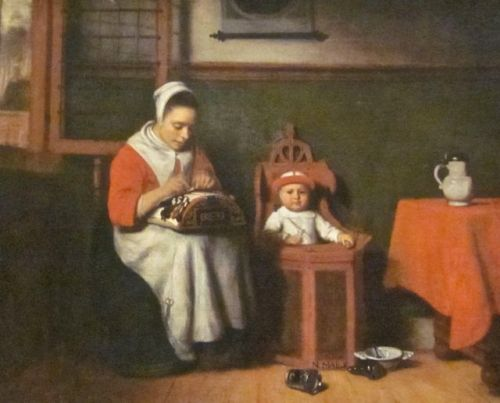 The Lacemaker by Nicolaes Maes 1655
