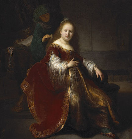 Woman at her Toilet by Rembrandt 1633