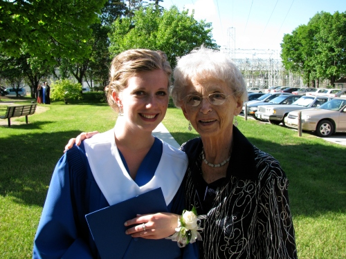 Dorothy celebrates the high school graduation of her granddaughter