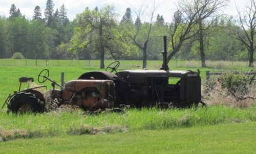 Old Tractors on Joanne Gullachsen's family homestead