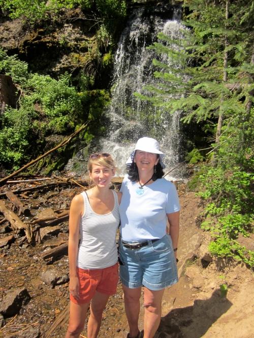 me and rebekah at waterfall