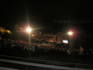 red rocks amphitheatre at night