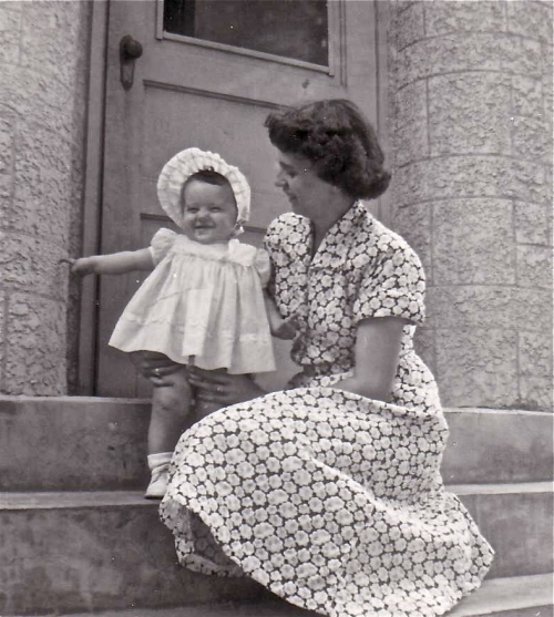 mother and daughter 1954