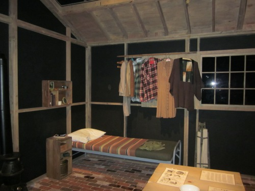 Recreation of the barracks at the Amache Japanese Detention Camp at the Colorado History Centre in Denver