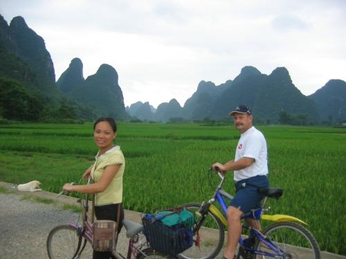 Rong our wonderful biking guide in Yangshou
