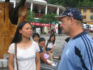 talking with our yangshou guide