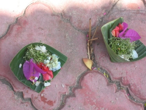bali offering baskets