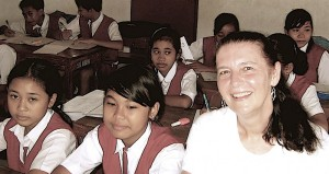grade six class with me in bali