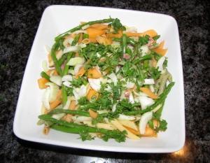 melon, fennel and prosciutto salad