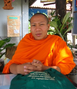 buddhist monk in chiang mai thailand