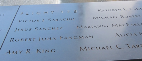 amy king's name at 9/11 memorial new york