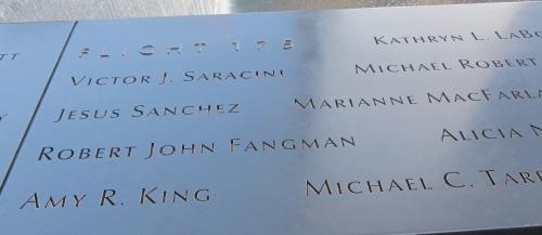 amy king's name at 9/11 memorial new york