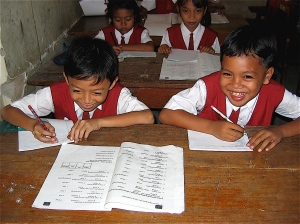 school boys in bali