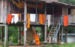 residence for buddhist asian monks