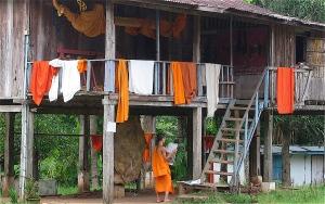 residence for buddhist asian monks