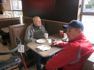coffee at tim hortons with dad