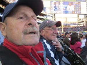 brothers at tiger game