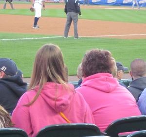 pink shirts at tigers game