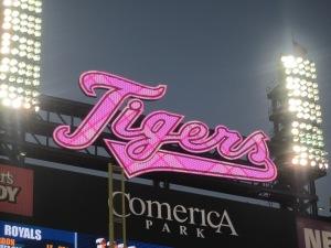 detroit tiger logo turned pink