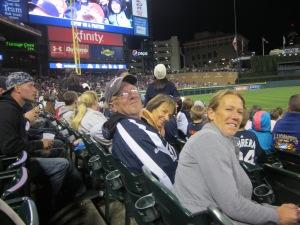 at the tiger game