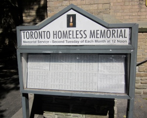 tuesday memorial service for the homeless holy trinity