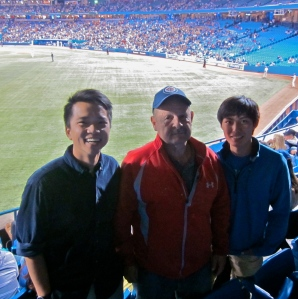 dave with jon and ivan at blue jays game