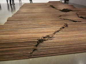 straightened rebar memorial to sichuan earthquake victims
