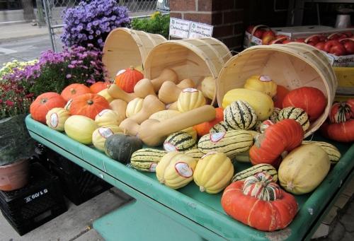 Squash at a street market in Toronto September 2013