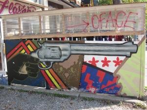 gun mural kensington market toronto