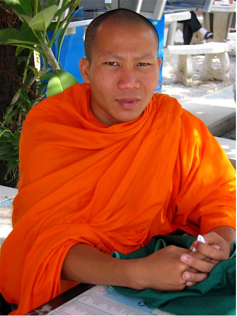 Monk in Chaing Mai Thailand