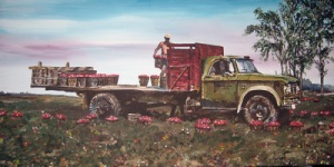 Tomato Truck painted by Dave's cousin Ruth Driedger