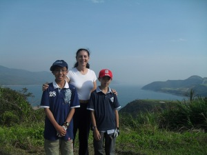 Golfing with students in Hong Kong