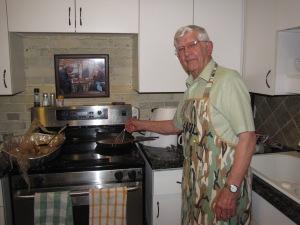 dad making gravy