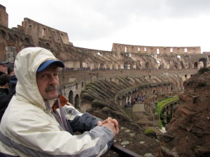 dave inside the colosseum