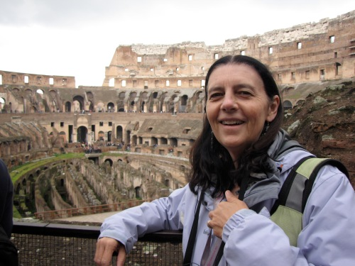 marylou inside the colosseum