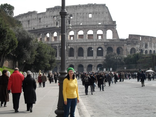 marylou outside the colosseum
