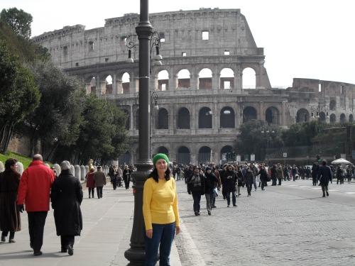 marylou outside the colosseum