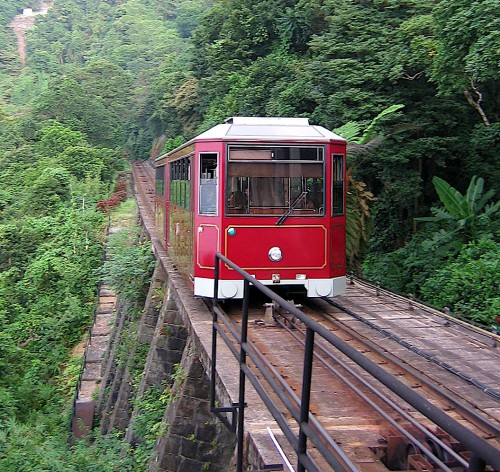 Plum's family lived on Victoria Peak. I took this tram up to the peak many, many times when I lived in Hong Kong.