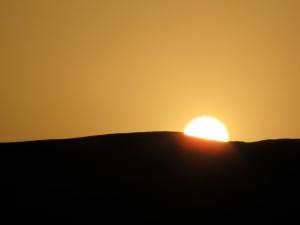 dawn on the negev desert