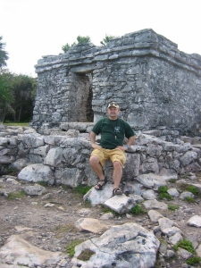 Dave at the Mayan ruins at Tulum